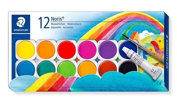 Staedtler, 888 NC12, Noris club, sada akvarelových vodových barev, 12 odstínů