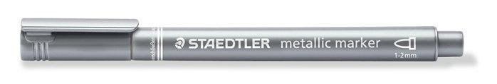 Značkovač metalický stříbrný 1 až 2 mm