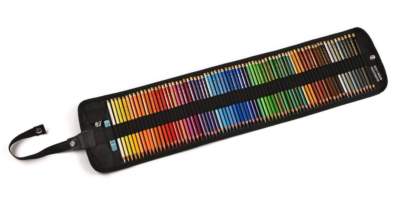 Koh-i-noor, 3827072002TP, Polycolor, souprava uměleckých pastelek v rolovacím pouzdře, 72 ks