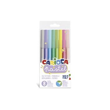 Carioca, 43032, fixy sada, pastelové barvy, 8 ks