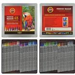 Koh-i-noor, 8786048001PL, Progresso, souprava akvarelových pastelek v laku, 48 ks