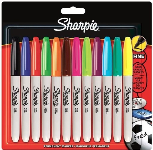 Fixy Sharpie,12 kusů