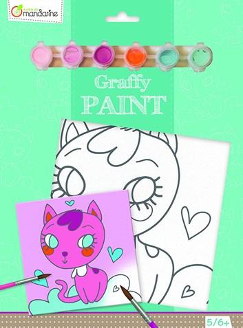Avenue Mandarine, PP012, malování na plátno, kočička