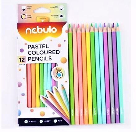 Nebulo, NSZC-H-12-PSZ, sada pastelek 12 ks, pastelové odstíny