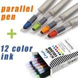 Pilot, FP3-38-SS, Parallel pen, kaligrafické plnící pero, zelená, hrot 3,8 mm, 1 ks