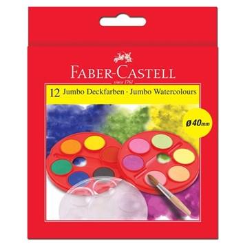 Faber-Castell, 125015, sada akvarelových vodových barev, 12 barev