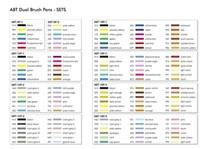 Tombow, ABT-6P-3, ABT Dual Brush pen, oboustranné popisovače, dermatologicaly tested, based tone, 6 ks