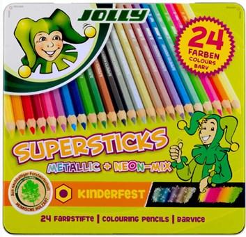 Pastelky supersticks, 24 kusů, Jolly
