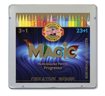 Koh-i-noor, 8774024005PL, Progresso Magic, pastelky v laku, 23 + 1 ks