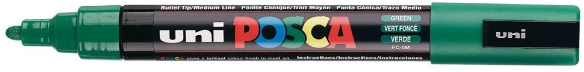 Uni ball, PC-5M, Posca, dekorační popisovač, základní barvy, 1 ks, zelená