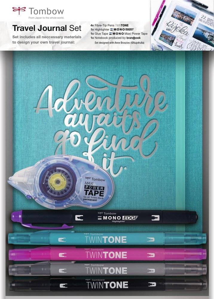 Tombow, Travel journal set, set pro vedení cestovního deníku, 7 ks