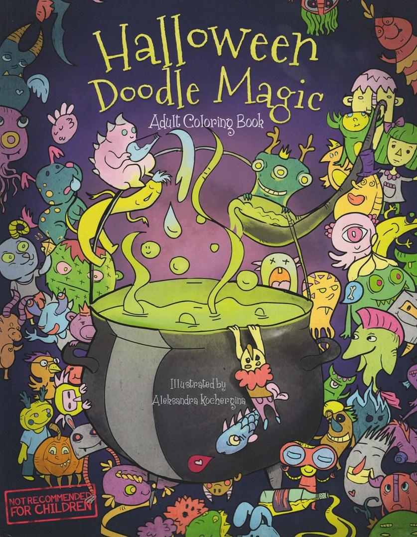 Halloween Doodle Magic, slavit svátek plný strašidel můžete slavit každý den, nejen na Haloween. Stačí koupit tuto skvělou omalovánkou plnou doodle příšerek.