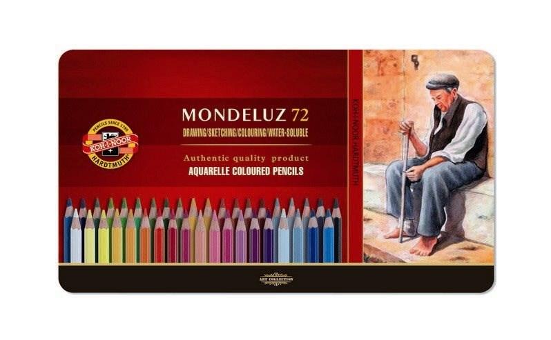 Souprava pastelek akvarelových 72, Mondeluz v plechu