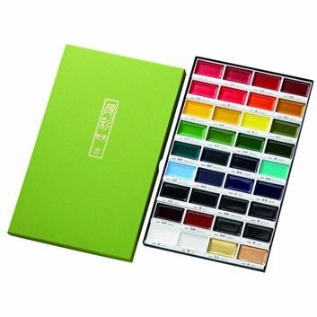 Kuretake, MC20V36, Gansai Tambi, akvarelové barvy, 36 odstínů