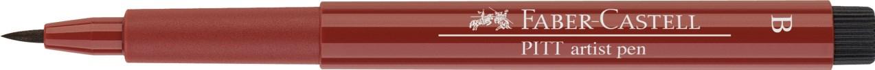 Faber-Castell, 167492, Pitt artist pen, popisovač se štětečkovým hrotem (brush), 1 ks - Indian red 192