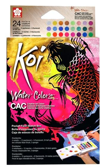 Sakura, KOI-WCB24S, Koi water colors CAC, 1/2 pánvičky, 24 ks