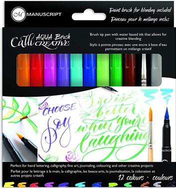 Manuscript, MM6690, sada akvarelových brush popisovačů se štětcem, 13 ks