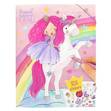 Princess Mimi, kreativní kniha omalovánek s nálepkami