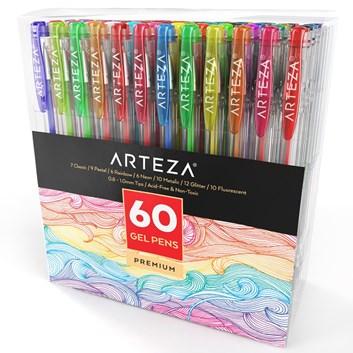 Arteza, ARTZ-8001, Premium gel pens, sada gelových per, 60 ks
