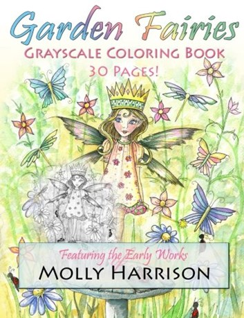 Garden Fairies Grayscale Coloring Book, Molly Harrison
