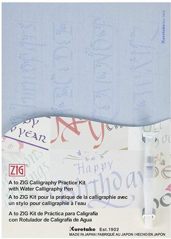 Kuretake, INPK-001, Zig calligraphy practice set, sada na výuku kaligrafie