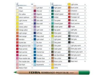 Polycolor, kusové pastelky, 78 odstínů, Lyra Rembrandt, AKCE!