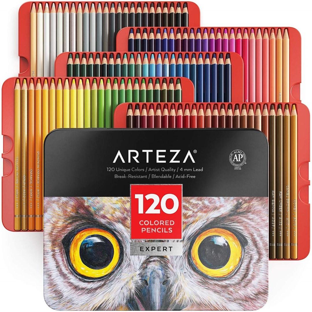 Arteza, ARTZ-8361, Arteza Expert, sada uměleckých pastelek, 120 ks