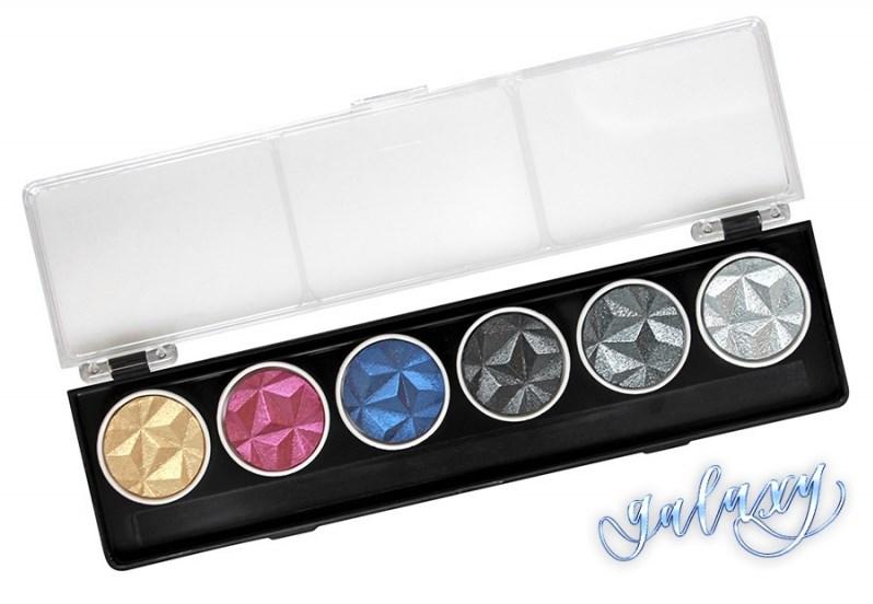 Coliro, G500, Pearl colors, metalické, perleťové akvarelové barvy, 6 odstínů, Galaxy
