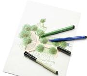 Faber-Castell, 167467, Pitt artist pen, popisovač se štětečkovým hrotem (brush), 1 ks - Permanent green olive 167
