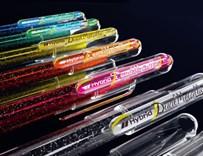 Pentel, K110-DAX, Dual metallic, gelové pero, 1 ks, černá/metalická červená