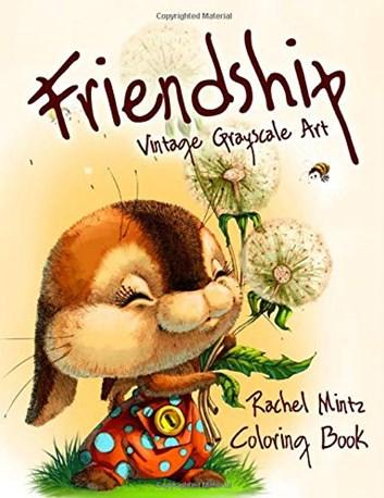Friendship - Vintage Grayscale Art,  Rachel Mintz
