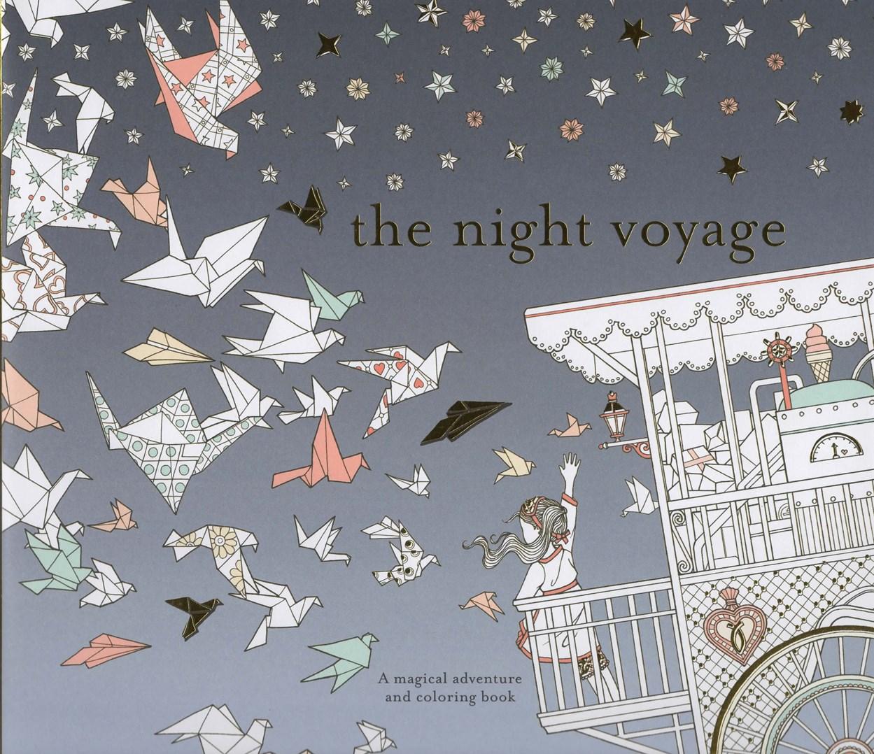 The Night Voyage, Noční cesta, antistresová omalovánka pro dospělé, Daria Song