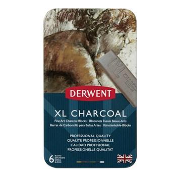 Derwent, 2302009, XL Charcoal, sada uměleckých uhlů XL, 6 kusů