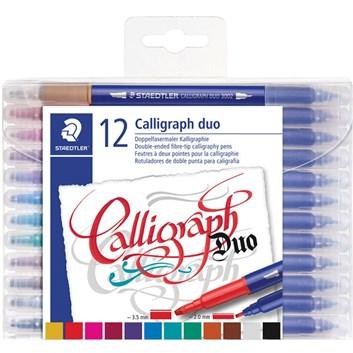 Staedtler, 3005 TB12, Calligraph Duo, kaligrafické popisovače, oboustranné, 12 ks