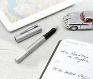 Faber-Castell, 140900, Grip 2011, plnící pero, stříbrná, hrot M, 1 ks