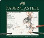 Faber-Castell, 112976, Pitt Monochrome, sada uměleckých výtvarných potřeb, 21 ks