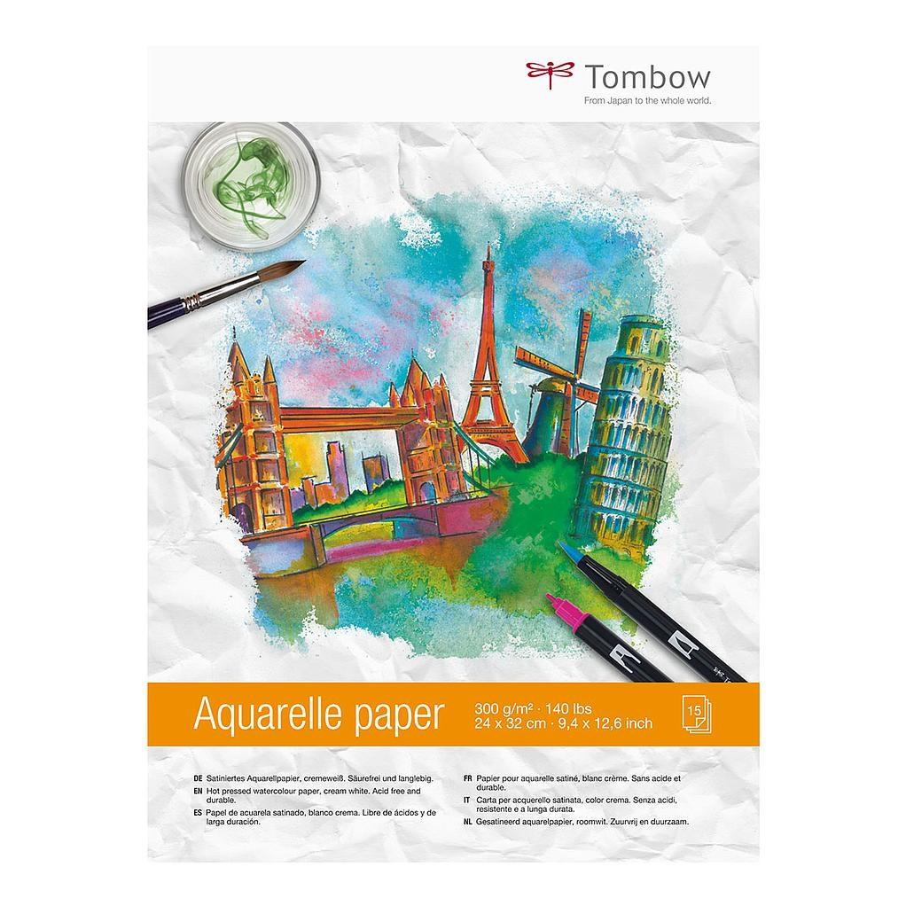 Tombow, PB-AQUA, akvarelový blok, A4, 300 g, 15 listů