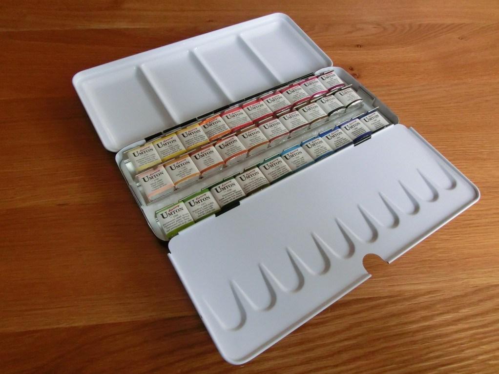 Umton, W-30, Sada akvarelových barev v kovové kazetě, 2,6 ml, 30 kusů