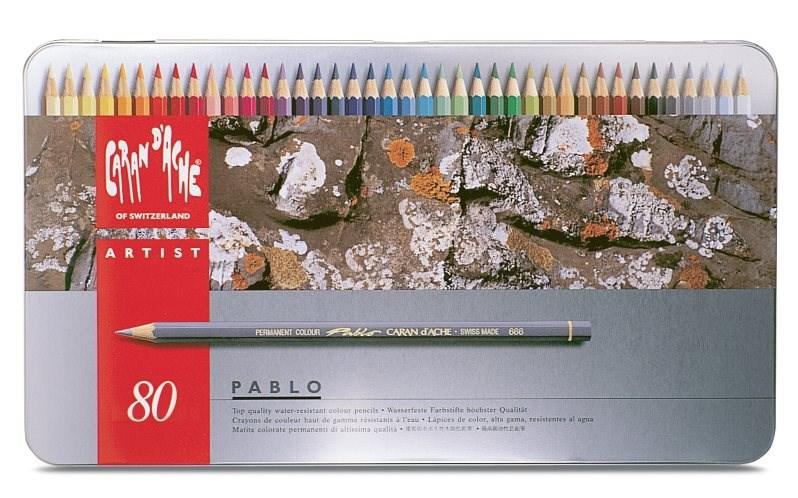 Caran d'Ache Pablo 80 kusů. Umělecké pastelky nejvyšší kvality. Dopřejte si luxusní zážitek během malování.
