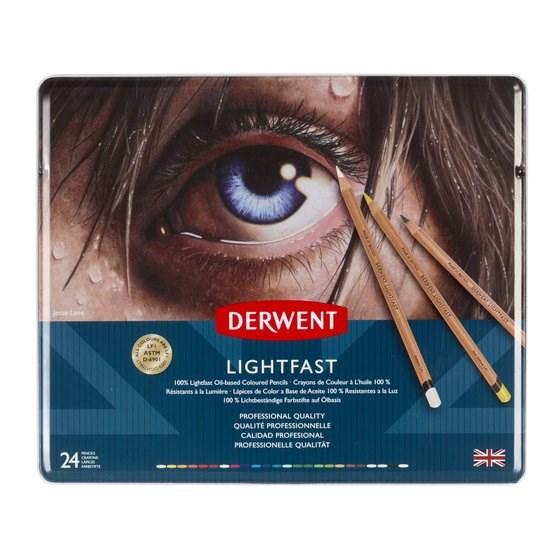 Derwent, 2302720, Lightfast, umělecké pastelky, 24 ks