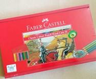Klasické pastelky, 36 ks, dřevěná kazeta, Faber-Castell