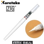 Kuretake, CNBW-01S, Zig, Brush pen, popisovač se štětečkovým hrotem, 1 ks, bílá