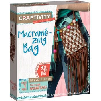 Craftivity, 3504200, kreativní sada, makramé taška