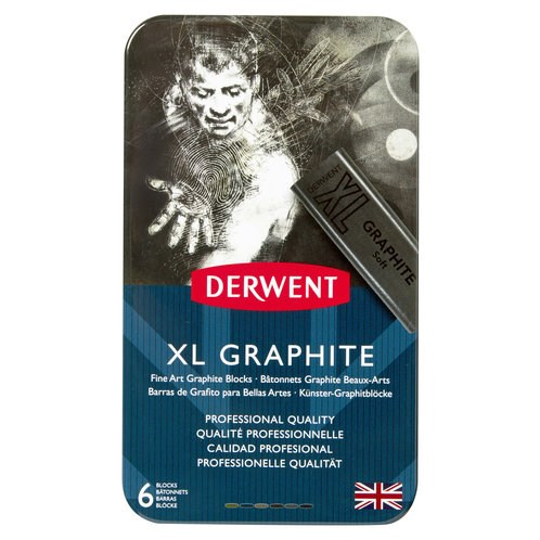 Derwent, 2302010, XL Graphite, sada uměleckých grafitů XL, 6 kusů