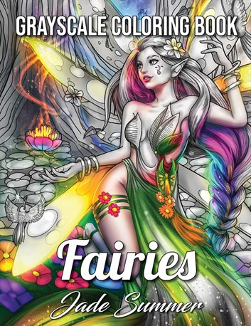 Fairies Grayscale, Jade Summer