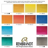 Royal Talens, 05838696, Rembrandt, sada mistrovských akvarelových barev, 12 pánviček, Portrait selection