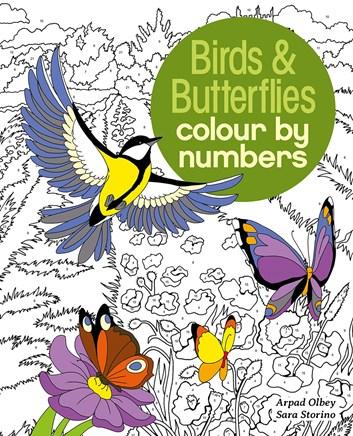 Birds & Butterflies colour by numbers, kolektiv