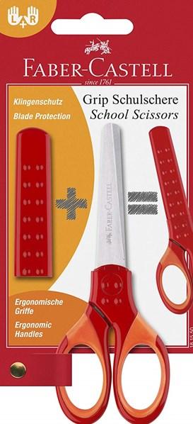 Faber-Castell, 181550, nůžky Grip, červená, 1 ks