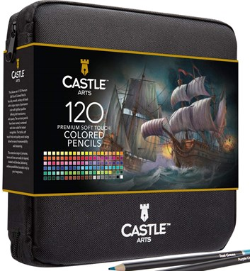 Castle art supplies, CAS-120CPZ, Premium colored pencils, sada pastelek v pouzdře, 120 ks
