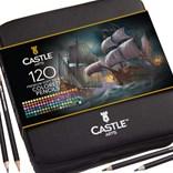 Castle art supplies, CAS-120CPZ, Premium colored pencils, sada pastelek v pouzdře, 120 ks